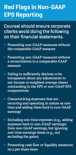 Red Flags in Non-GAAP EPS Reporting