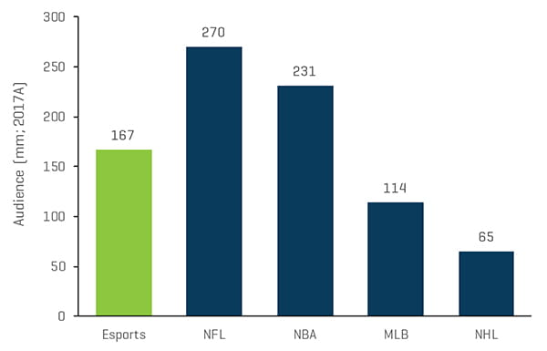 Audience Size of Esports Top Leagues