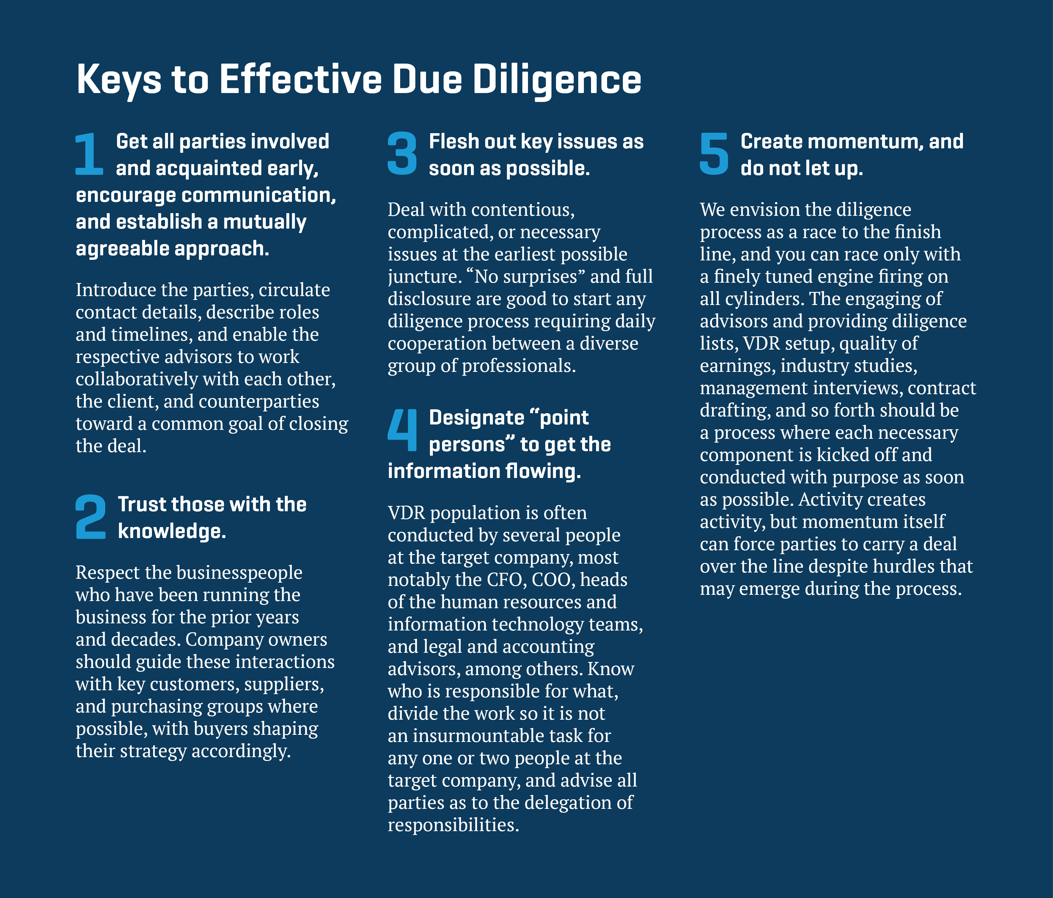 due diligence deal maker or deal breaker