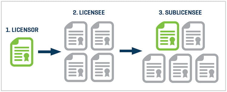 Licensor Licensee Sublicensse Transaction Royalty Payment