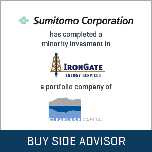 Sumitomo Corporation completed minority investment in IronGate Energy Services, LLC
