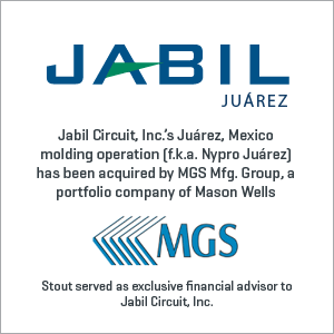 Jabil Circuit, Inc. has been acquired by MGS Mfg. Group