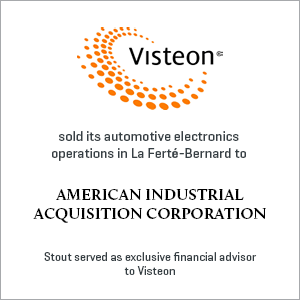 Visteon sold its automotive electronics operations in La Ferte-Bernard to American Industrial Acquisition Corporation