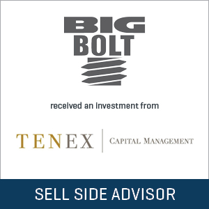 Big Bolt Corporation transaction by Tenex Capital Management